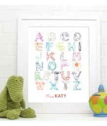 Cats Alphabet - Personalised